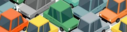 Voiture embouteillage – isométrie